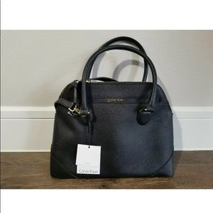 Calvin Klein dome leather purse